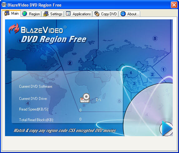 BlazeVideo DVD Region Free