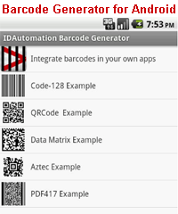 Barcode Generator for Android