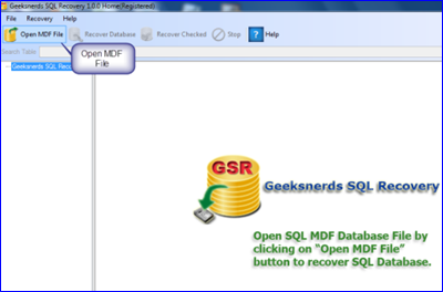 Geeksnerds SQL Recovery