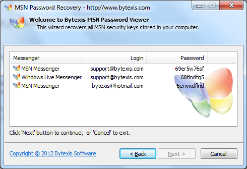 Bytexis MSN Password Recovery