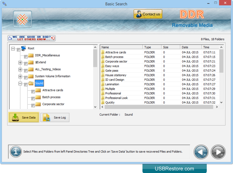 Removable Media Restore Software