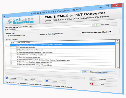 EML file to PST