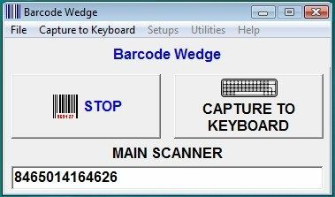 Barcode Wedge Software