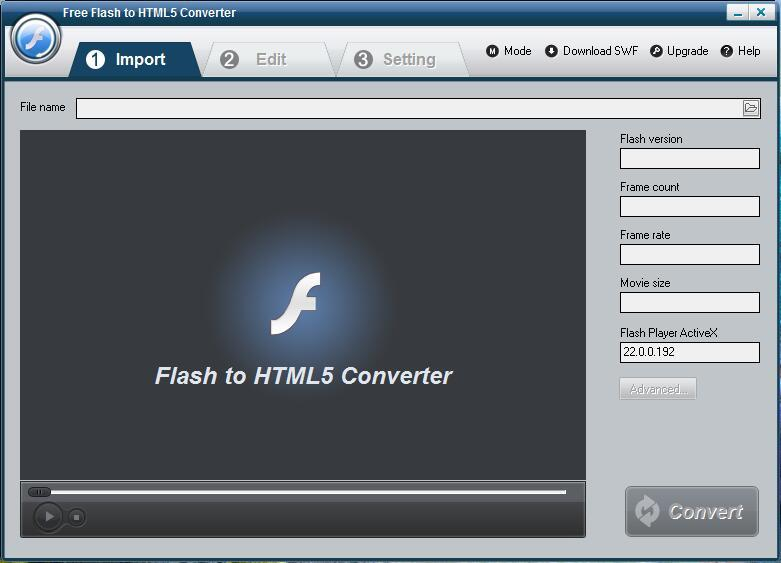 Free Flash to HTML5 Converter