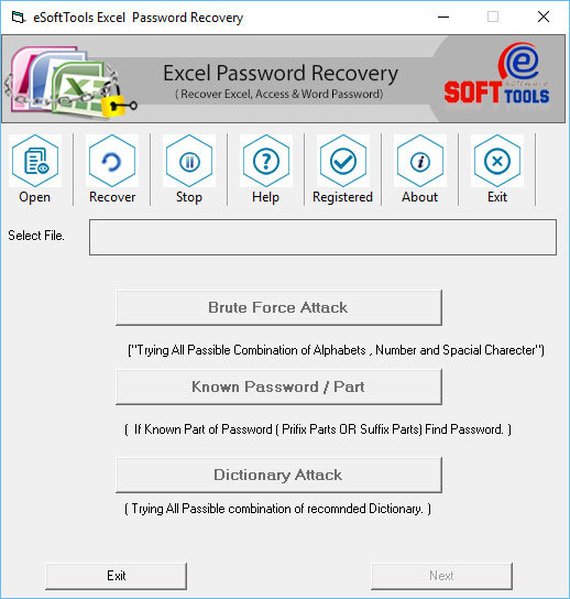 Excel 2013 Password Recovery
