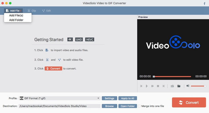 VideoSolo Video to GIF Converter (Mac)