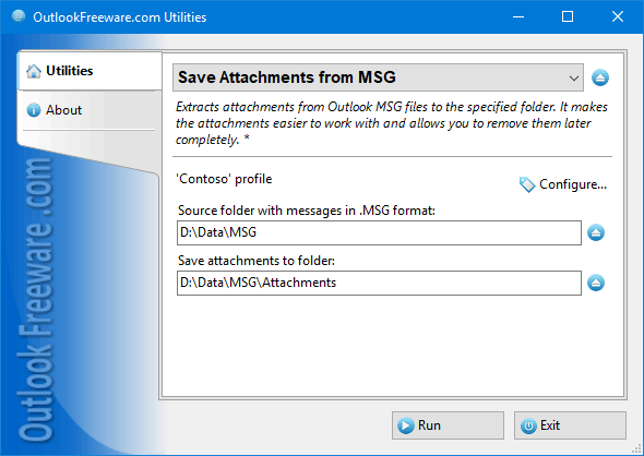 Save Attachments from MSG Files