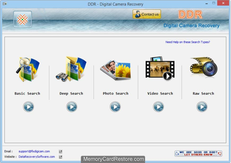 Digital Camera Data Recovery Tool
