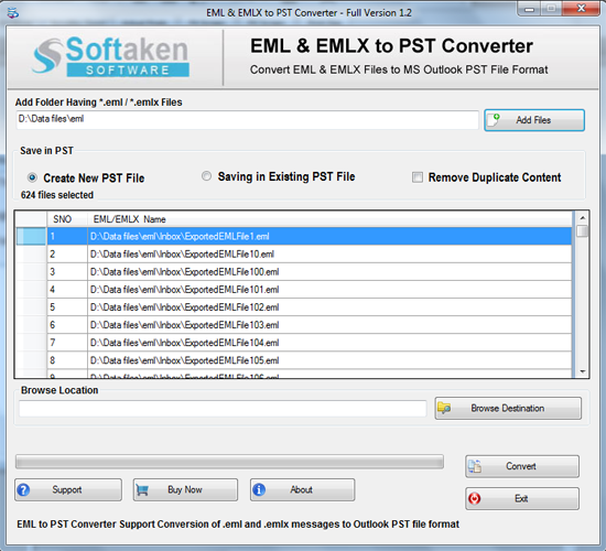 Softaken EML to Outlook Converter