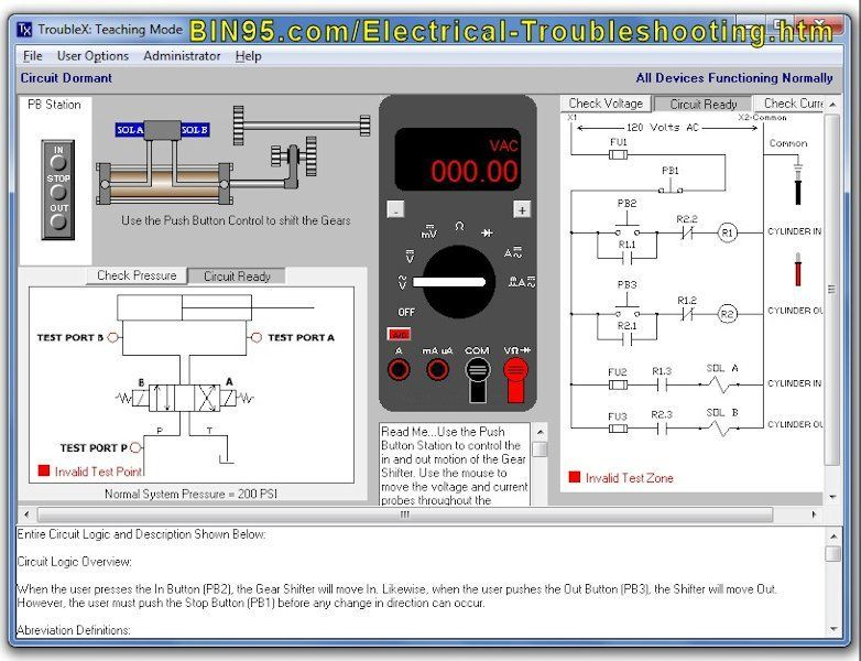TroubleX Electrical Troubleshooting Sim
