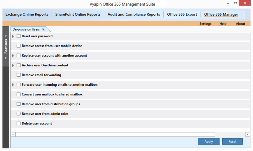 Office 365 Administration Tool