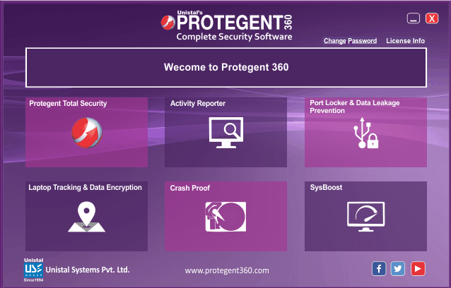 Protegent 360 Complete Security Antivirus Software with data recovery