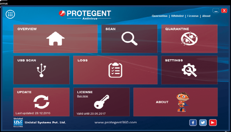 Protegent Antivirus Software with Data Recovery