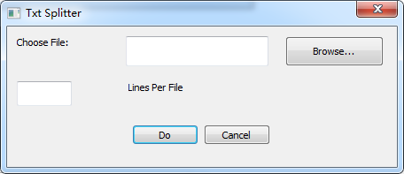 Simple Text File Splitter