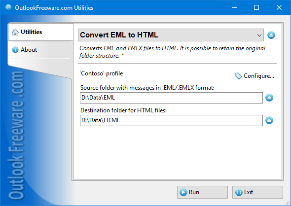 Convert EML to HTML Files for Outlook