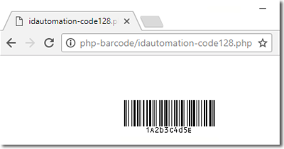 Code-128 & GS1-128 PHP Barcode Script