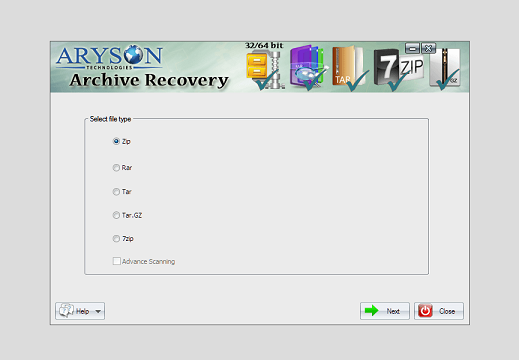 Aryson Archive Recovery