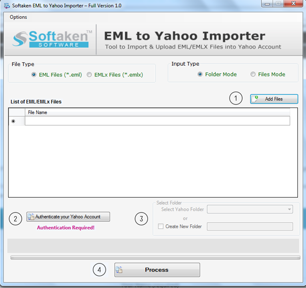 Softaken EML to Yahoo Importer