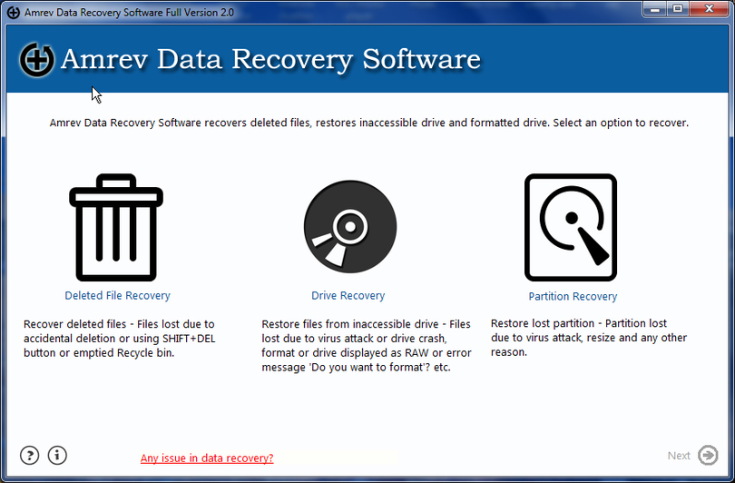 Amrev Data Recovery Software