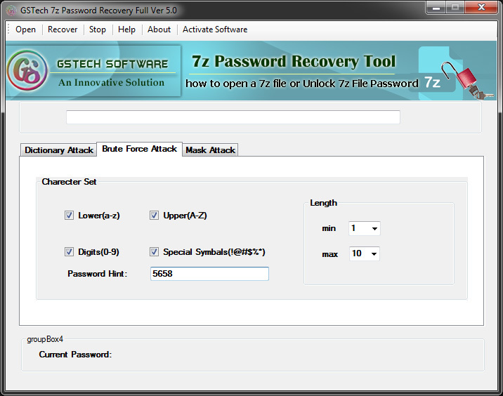 7ZIP File Password Recovery