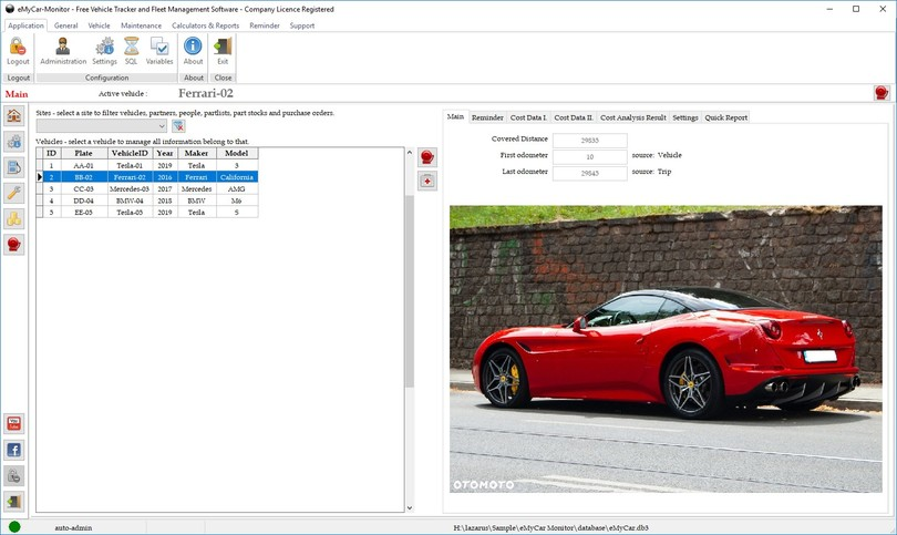 eMyCar Monitor for Windows