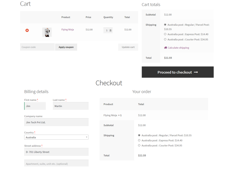 Australia Post Shipping For WooCommerce