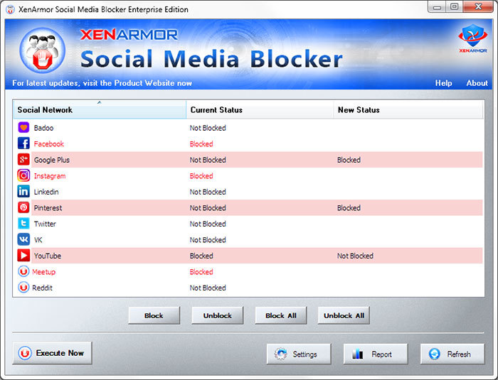 XenArmor Social Media Blocker