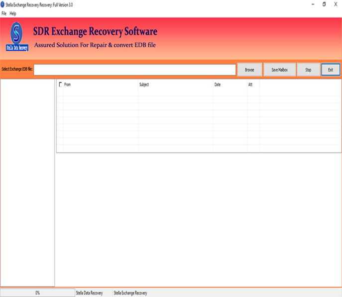 SDR Exchange EDB to PST Software