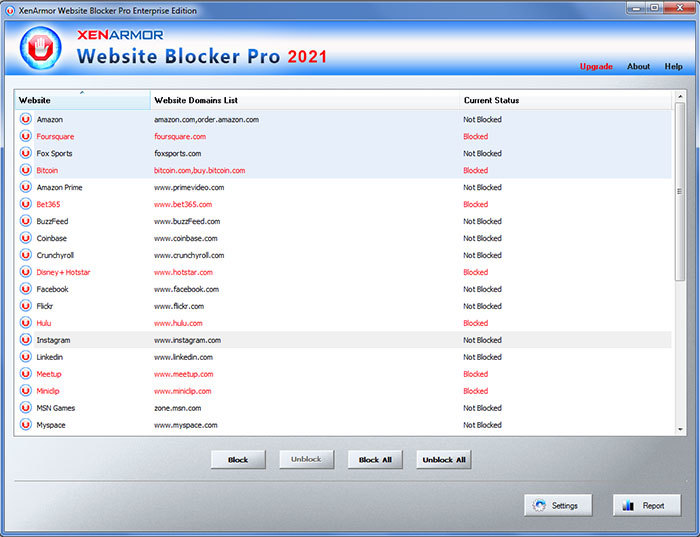 XenArmor Website Blocker Pro