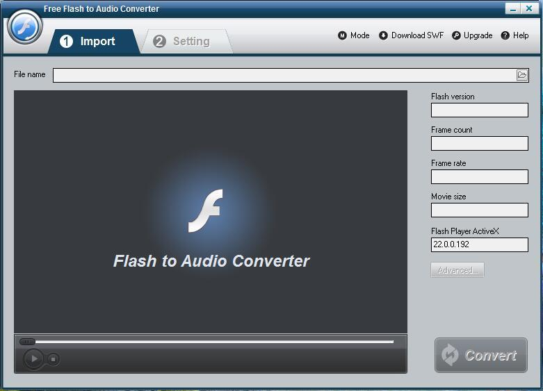 Free Flash to Audio Converter