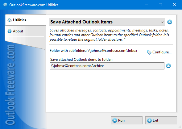 Save Attached Outlook Items