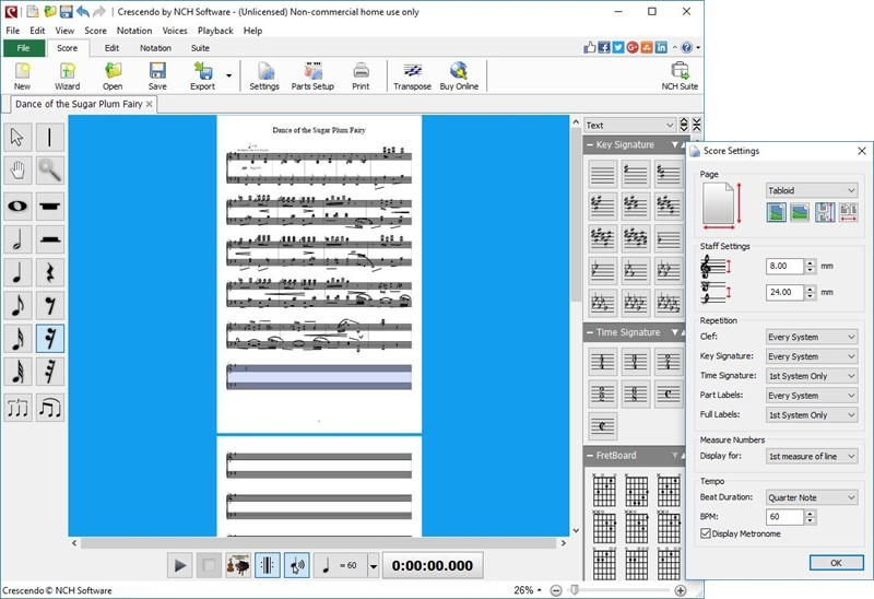 Crescendo Music Notation Editor Free