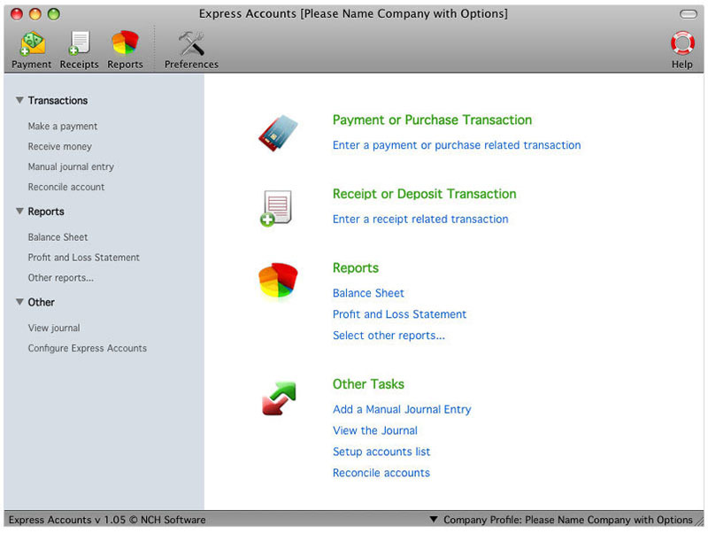 Express Accounts Free for Mac