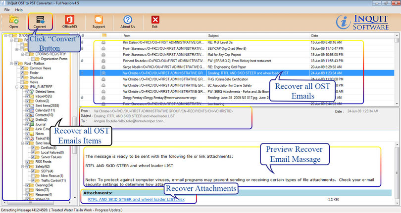InQuit OST to PST Converter
