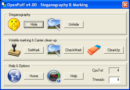 OpenPuff Steganography and Watermarking