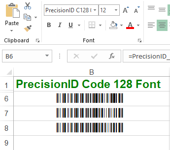 PrecisionID Code 128 Fonts