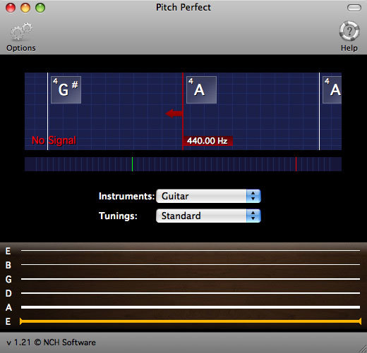 PitchPerfect Free Guitar Tuner for Mac
