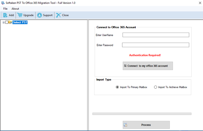 PST to Office 365 Migration Tool