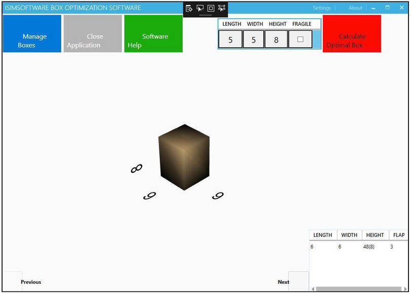 isimSoftware Box Optimization Software