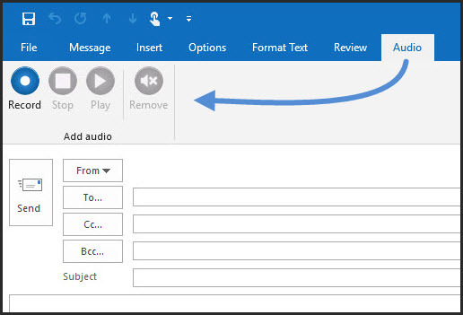 Audio for Outlook
