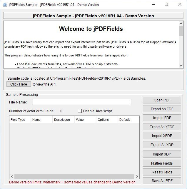 jPDFFields for Linux