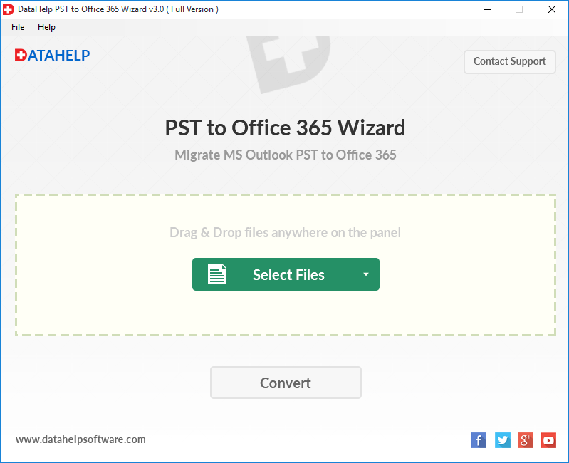 DataHelp PST to Office 365 Migration
