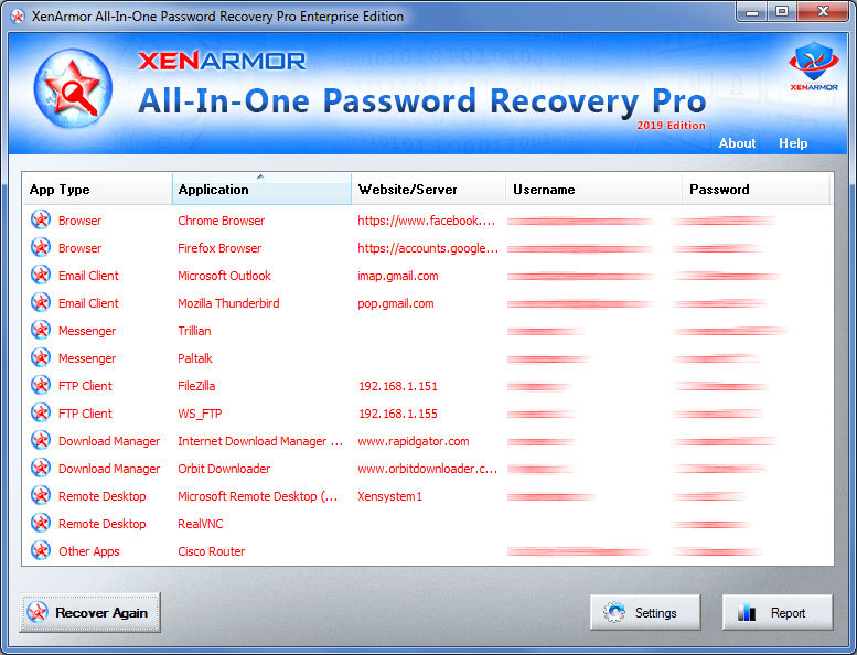 All-In-One Password Recovery Pro 2019