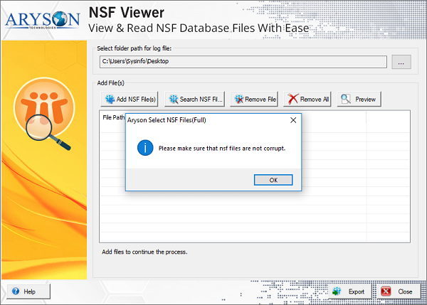NSF File Viewer