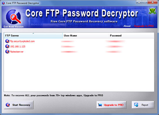 Password Decryptor for Core FTP