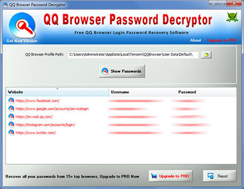 Password Decryptor for QQ Browser