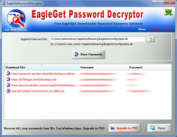 EagleGet Password Decryptor