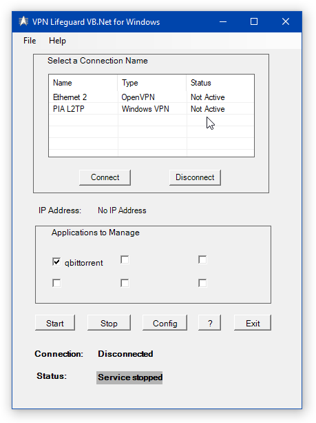 VPN Lifeguard VB.Net for Windows