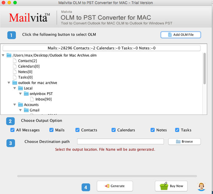 MailVita OLM to PST Converter for Mac