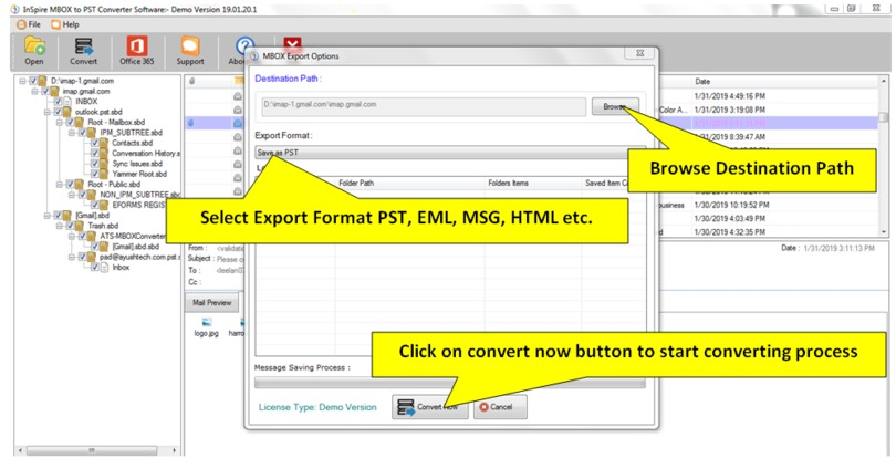 Inspire MBOX to PST Converter